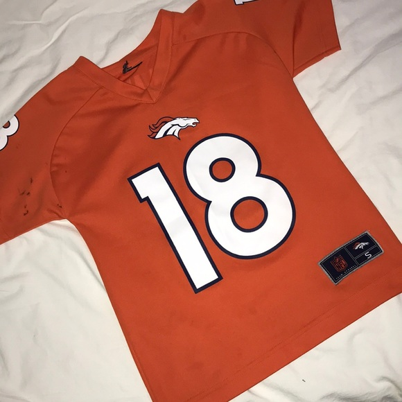 the latest 8a86f ae57f Boys Small Peyton Manning #18 Broncos Jersey NFL